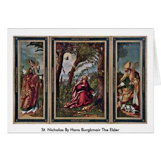 St. Nicholas By Hans Burgkmair The Elder Greeting Card