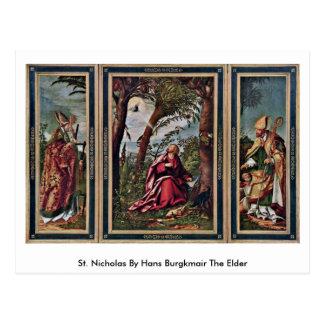 St. Nicholas By Hans Burgkmair The Elder Postcard