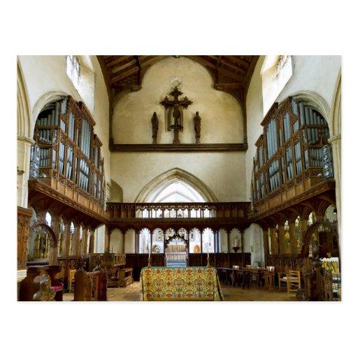 St Nicholas Church, Blakeney UK postcard