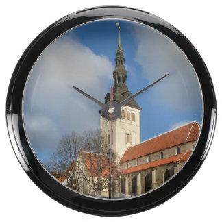 St Nicholas Church Tallinn Estonia Aqua Clock