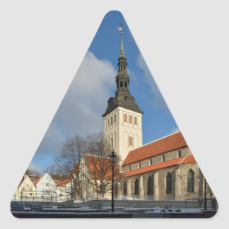 St. Nicholas' Church, Tallinn, Estonia Triangle Sticker