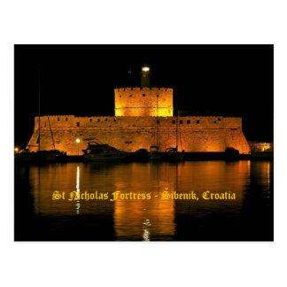 St Nicholas Fortress - Šibenik, Croatia Postcard