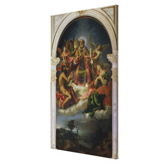 St. Nicholas in Glory with Saints Canvas Print