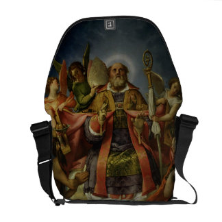 St. Nicholas in Glory with Saints Messenger Bag