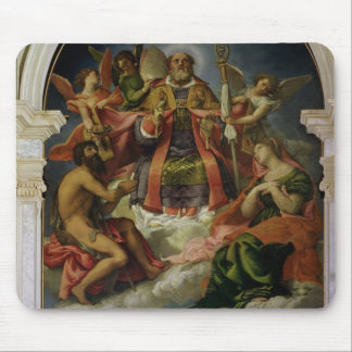 St. Nicholas in Glory with Saints Mouse Pad