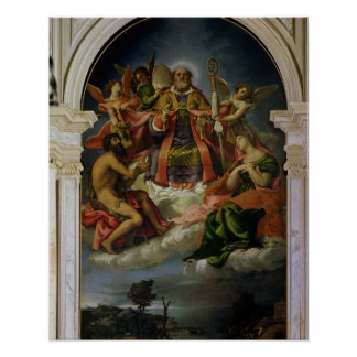 St. Nicholas in Glory with Saints Poster