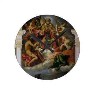 St. Nicholas in Glory with Saints Round Clock