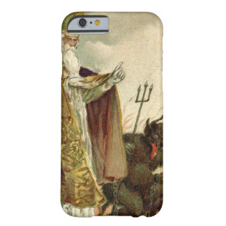 St Nicholas Krampus Pitchfork Priest Barely There iPhone 6 Case