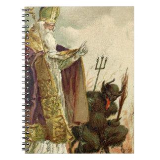 St Nicholas Krampus Pitchfork Priest Notebook