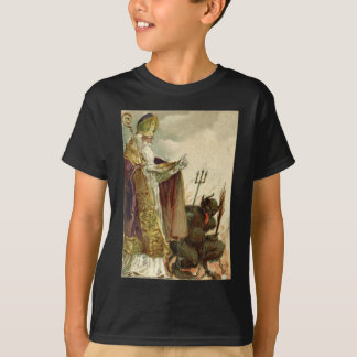 St Nicholas Krampus Pitchfork Priest T-Shirt