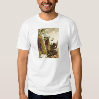 St Nicholas Krampus Pitchfork Priest T-Shirt
