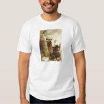 St Nicholas Krampus Pitchfork Priest T-shirts
