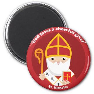 St. Nicholas 2 Inch Round Magnet