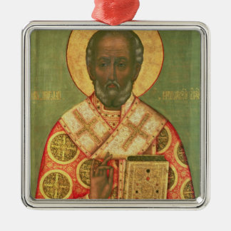 St. Nicholas, Moscow School Metal Ornament