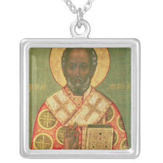 St. Nicholas, Moscow School Silver Plated Necklace