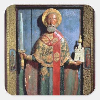 St. Nicholas of Mozhaisk, Yaroslavl School Square Sticker