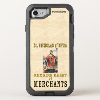 St. NICHOLAS of MYRA (Patron Saint of Merchants) OtterBox Defender iPhone 8/7 Case