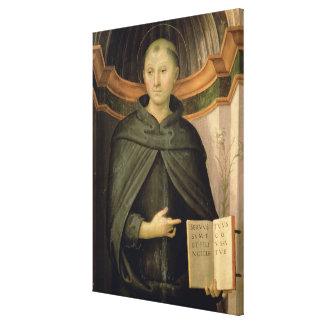 St. Nicholas of Tolentino (panel) Canvas Print