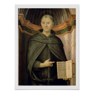 St. Nicholas of Tolentino (panel) Poster