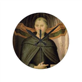 St. Nicholas of Tolentino (panel) Round Clock