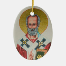 St Nicholas Ornament at Zazzle