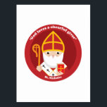 """St. Nicholas Postcard<br><div class=""""desc"""">A cute and happy St. Nicholas icon to bring love,  joy and hope to your loved ones and yourself.</div>"""