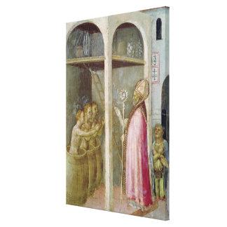 St. Nicholas Resuscitates the Three Children Canvas Print