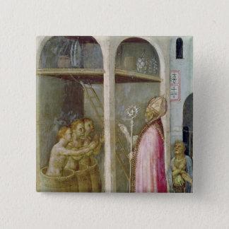 St. Nicholas Resuscitates the Three Children Pinback Button