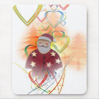 St. Nicholas Santa Clause Heart Tree Art Deco Mouse Pad