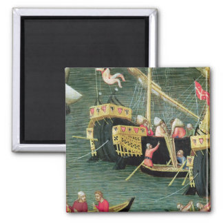 St. Nicholas Saves Mira from Famine 2 Inch Square Magnet