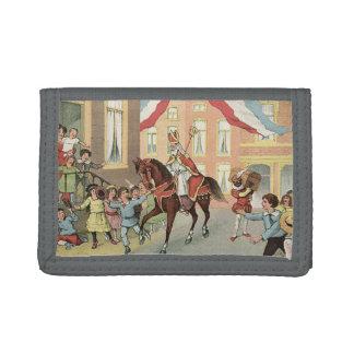 St. Nicholas Sinterklaas Dutch St. Nick Vintage Tri-fold Wallet