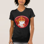 """St. Nicholas T-Shirt<br><div class=""""desc"""">A cute and happy St. Nicholas icon to bring love,  joy and hope to your loved ones and yourself.</div>"""