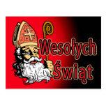 St. Nicholas Wesolych Swiat Postcard