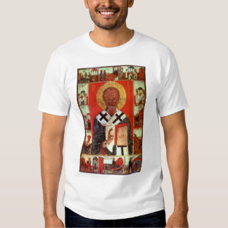 St Nicholas with Scenes from his Life Tee Shirt