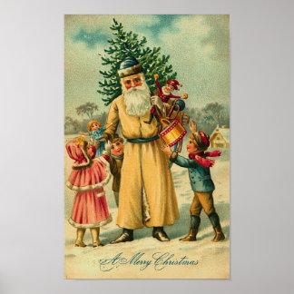 St. Nick and Kids At Christmas Poster
