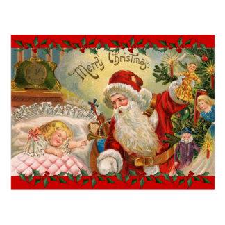 St. Nick del navidad del vintage Tarjeta Postal
