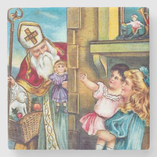 St Nick Delivers Christmas Stone Beverage Coaster