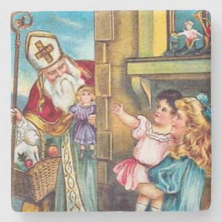 St Nick Delivers Christmas Stone Coaster