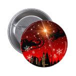 St Nick el Nochebuena Pin Redondo 5 Cm