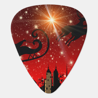 St Nick on Christmas Eve Guitar Pick