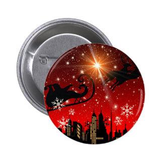St Nick on Christmas Eve Pinback Button