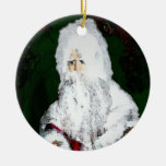 St Nick Double-Sided Ceramic Round Christmas Ornament