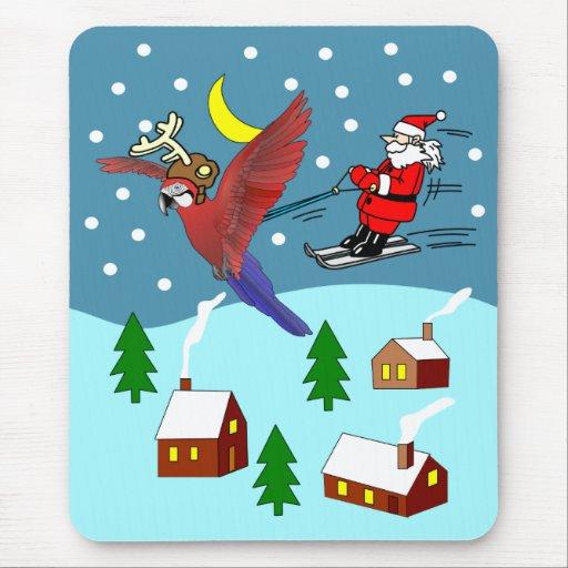 St Nick Skiing Mousepad