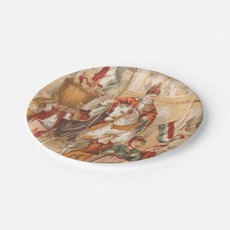 St. Nick St. Nicholas Dutch Sinterklaas Vintage Paper Plate