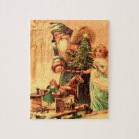 st nick vintage art jigsaw jigsaw puzzle