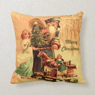 st nick vintage art pillow