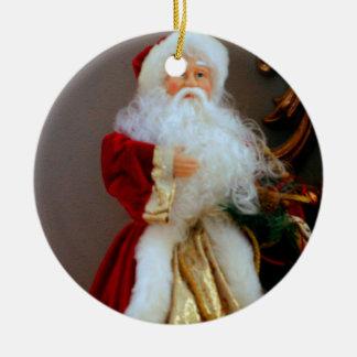 St. Nickolas Double-Sided Ceramic Round Christmas Ornament
