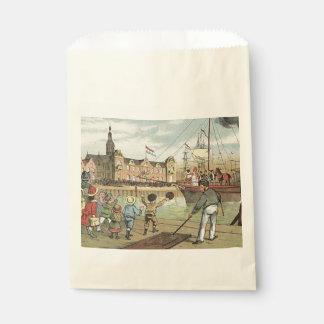 St. Nick's Day Dutch Sinterklaas Boat Vintage Favor Bag