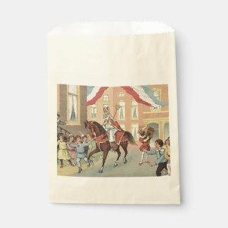 St. Nick's Day Dutch Sinterklaas Horse Vintage Favor Bag