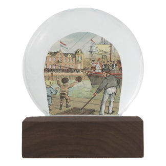 St. Nick's Day St. Nicholas Sinterklaas Vintage Snow Globe